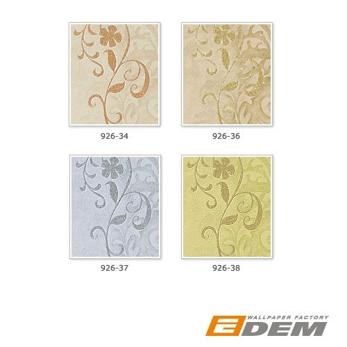 Antique wallpaper wall EDEM 926-36 Wallcovering deluxe heavyweight floral non-woven plaster flower decor beige green olive  – Bild 4