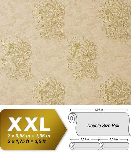 Papier peint intissé de luxe styl antique EDEM 926-36 avec fleurs beige vert olive | 10,65 m2 – Bild 1