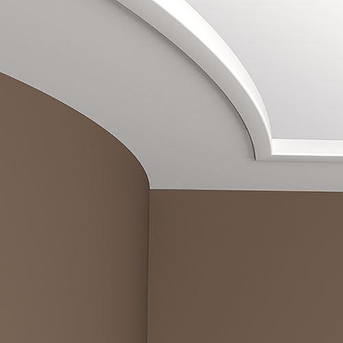 Eckleiste PROFHOME 150156F Zierleiste Flexible Leiste Stuckleiste Modernes Design weiß 2 m – Bild 2