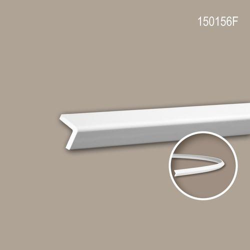 Eckleiste PROFHOME 150156F Zierleiste Flexible Leiste Stuckleiste Modernes Design weiß 2 m – Bild 1