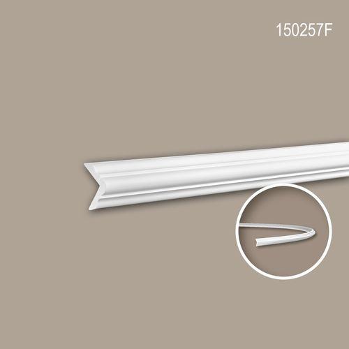 Eckleiste PROFHOME 150257F Stuckleiste Flexible Leiste Zierleiste Neo-Klassizismus-Stil weiß 2 m – Bild 1