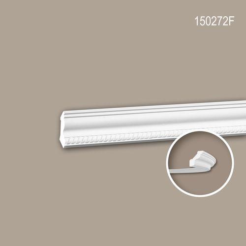 Eckleiste PROFHOME 150272F Stuckleiste Flexible Leiste Zierleiste Neo-Empire-Stil weiß 2 m – Bild 1
