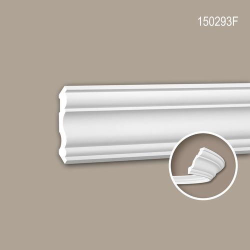 Eckleiste PROFHOME 150293F Stuckleiste Flexible Leiste Zierleiste Neo-Klassizismus-Stil weiß 2 m – Bild 1