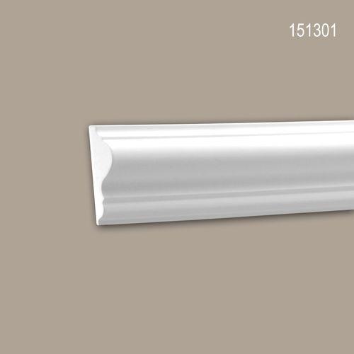 Wand- und Friesleiste PROFHOME 151301 Stuckleiste Zierleiste Wandleiste Neo-Klassizismus-Stil weiß 2 m – Bild 1