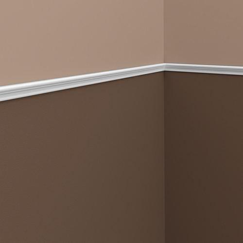 Wand- und Friesleiste PROFHOME 151321 Stuckleiste Zierleiste Wandleiste Neo-Klassizismus-Stil weiß 2 m – Bild 2