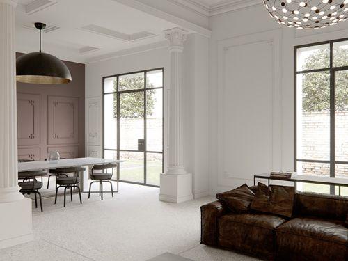 Wand- und Friesleiste PROFHOME 151338 Stuckleiste Zierleiste Wandleiste Neo-Klassizismus-Stil weiß 2 m – Bild 3