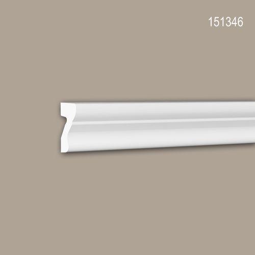 Wand- und Friesleiste PROFHOME 151346 Stuckleiste Zierleiste Wandleiste Neo-Klassizismus-Stil weiß 2 m – Bild 1