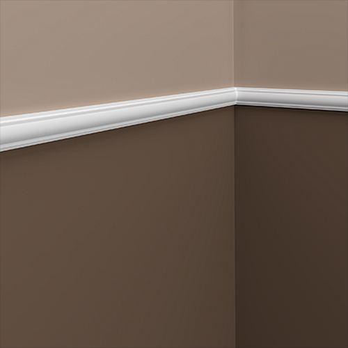 und Friesleiste PROFHOME 151378F Stuckleiste Flexible Leiste Zierleiste Neo-Klassizismus-Stil wei/ß 2 m Wand