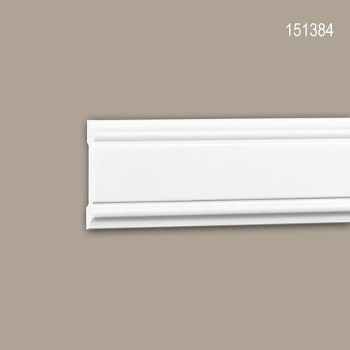 Wand- und Friesleiste PROFHOME 151384 Stuckleiste Zierleiste Friesleiste Neo-Klassizismus-Stil weiß 2 m – Bild 1