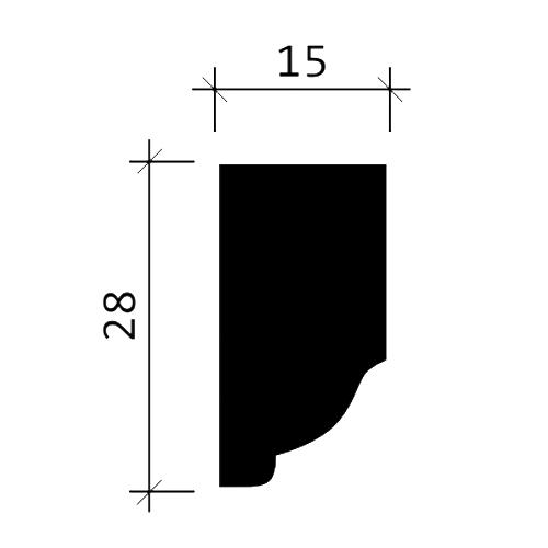 Wand- und Friesleiste PROFHOME 151305F Stuckleiste Flexible Leiste Zierleiste Neo-Klassizismus-Stil weiß 2 m – Bild 3