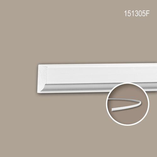 Wand- und Friesleiste PROFHOME 151305F Stuckleiste Flexible Leiste Zierleiste Neo-Klassizismus-Stil weiß 2 m – Bild 1