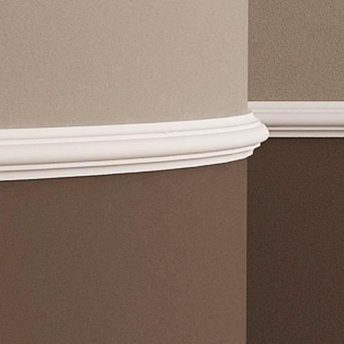 Wand- und Friesleiste PROFHOME 151308F Stuckleiste Flexible Leiste Zierleiste Neo-Klassizismus-Stil weiß 2 m – Bild 2