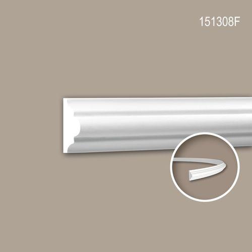 Wand- und Friesleiste PROFHOME 151308F Stuckleiste Flexible Leiste Zierleiste Neo-Klassizismus-Stil weiß 2 m – Bild 1