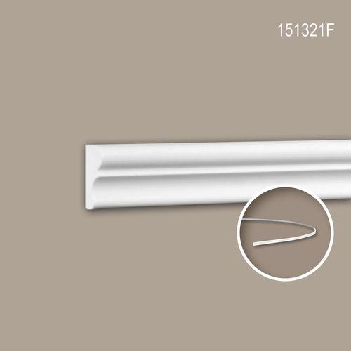 Wand- und Friesleiste PROFHOME 151321F Stuckleiste Flexible Leiste Zierleiste Neo-Klassizismus-Stil weiß 2 m – Bild 1