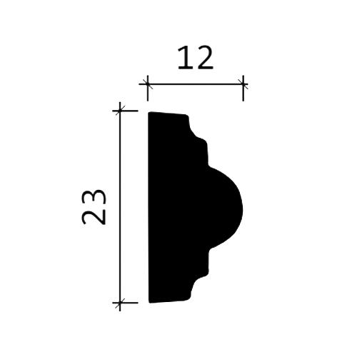 Wand- und Friesleiste PROFHOME 151329F Stuckleiste Flexible Leiste Zierleiste Neo-Klassizismus-Stil weiß 2 m – Bild 3