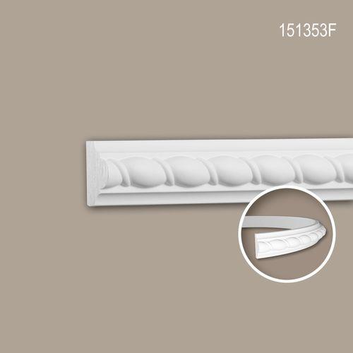 Wand- und Friesleiste PROFHOME 151353F Stuckleiste Flexible Leiste Zierleiste Neo-Empire-Stil weiß 2 m – Bild 1