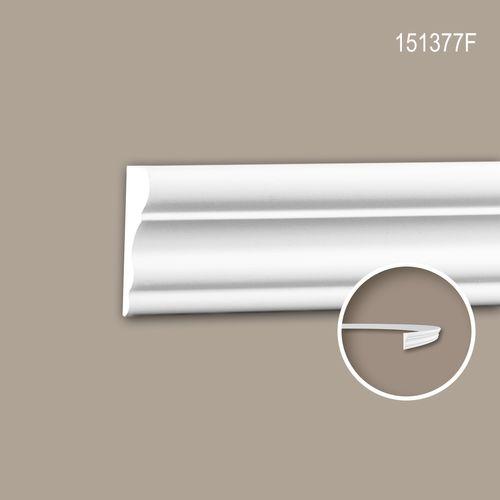 Wand- und Friesleiste PROFHOME 151377F Stuckleiste Flexible Leiste Zierleiste Neo-Klassizismus-Stil weiß 2 m – Bild 1