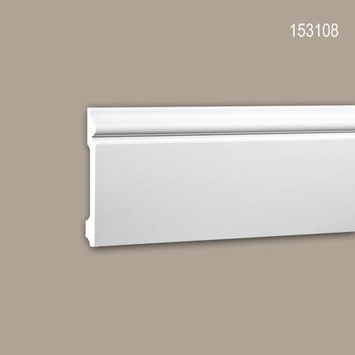 Sockelleiste PROFHOME 153108 Stuckleiste Zierleiste Neo-Klassizismus-Stil weiß 2 m – Bild 1