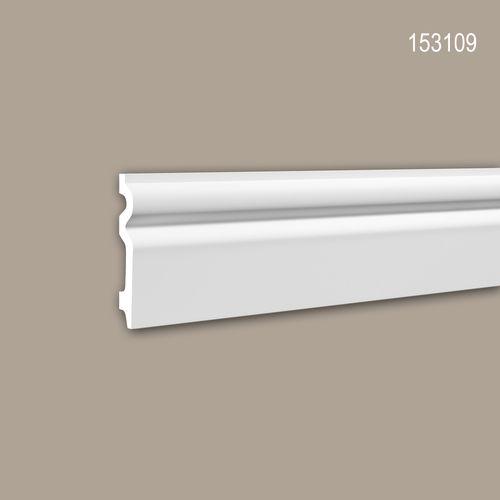 Sockelleiste PROFHOME 153109 Stuckleiste Zierleiste Zeitloses Klassisches Design weiß 2 m – Bild 1