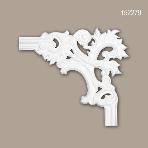 Eckelement PROFHOME 152279 Zierelement Rokoko Barock Stil weiß – Bild 1