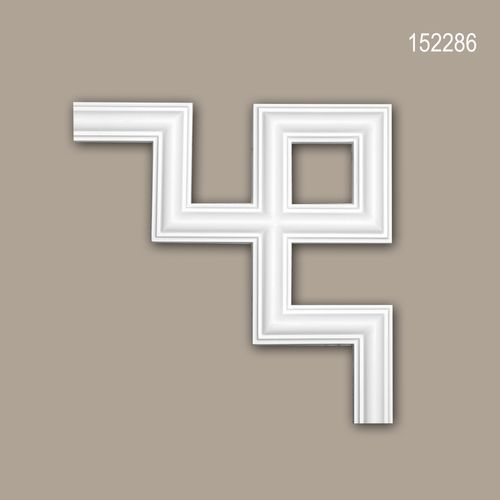 Eckelement PROFHOME 152286 Zierelement Modernes Design weiß – Bild 1