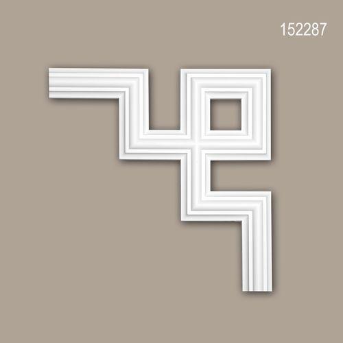 Eckelement PROFHOME 152287 Zierelement Modernes Design weiß – Bild 1