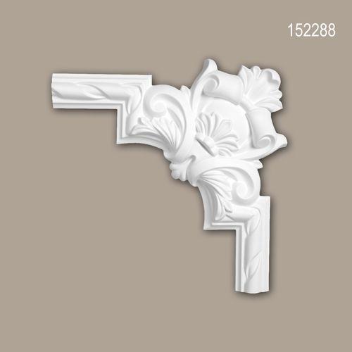 Eckelement PROFHOME 152288 Zierelement Rokoko Barock Stil weiß – Bild 1