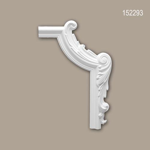 Eckelement PROFHOME 152293 Zierelement Neo-Empire-Stil weiß – Bild 1