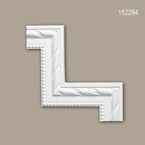 Eckelement PROFHOME 152294 Zierelement Neo-Klassizismus-Stil weiß – Bild 1