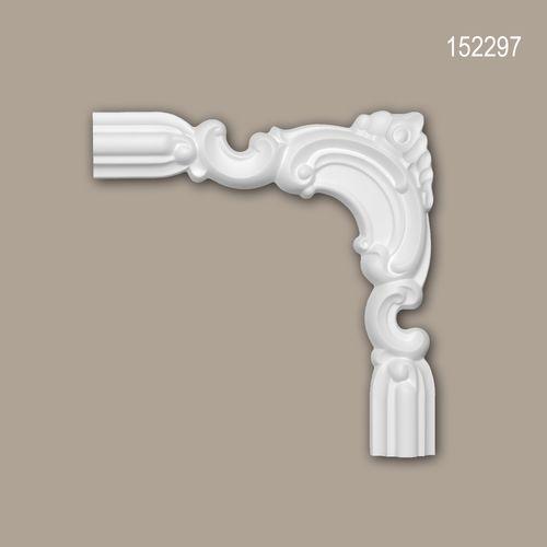 Eckelement PROFHOME 152297 Zierelement Zeitloses Klassisches Design weiß – Bild 1