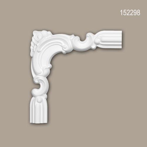 Eckelement PROFHOME 152298 Zierelement Zeitloses Klassisches Design weiß – Bild 1