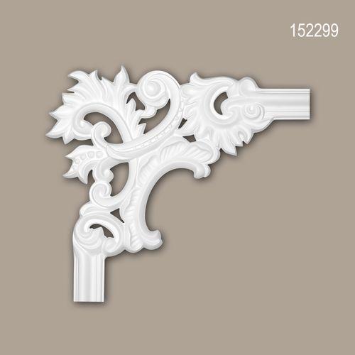 Eckelement PROFHOME 152299 Zierelement Rokoko Barock Stil weiß – Bild 1
