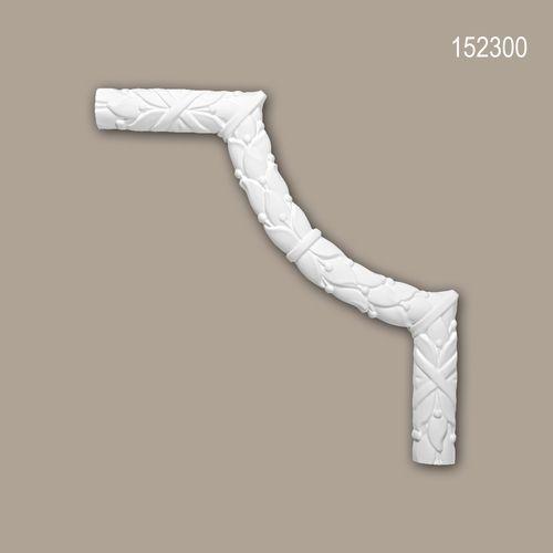 Eckelement PROFHOME 152300 Zierelement Rokoko Barock Stil weiß – Bild 1