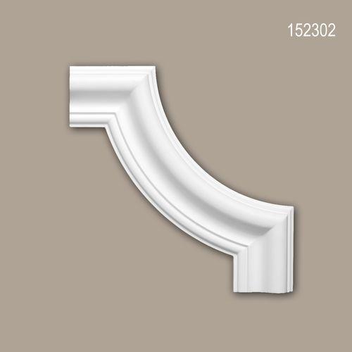 Eckelement PROFHOME 152302 Zierelement Neo-Klassizismus-Stil weiß – Bild 1