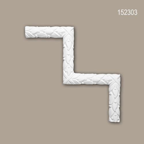 Eckelement PROFHOME 152303 Zierelement Rokoko Barock Stil weiß – Bild 1