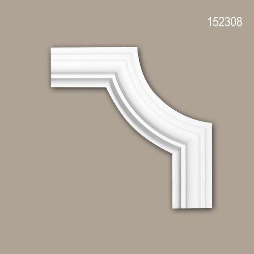 Eckelement PROFHOME 152308 Zierelement Zeitloses Klassisches Design weiß – Bild 1