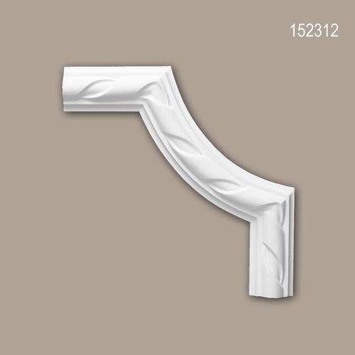 Eckelement PROFHOME 152312 Zierelement Neo-Empire-Stil weiß – Bild 1