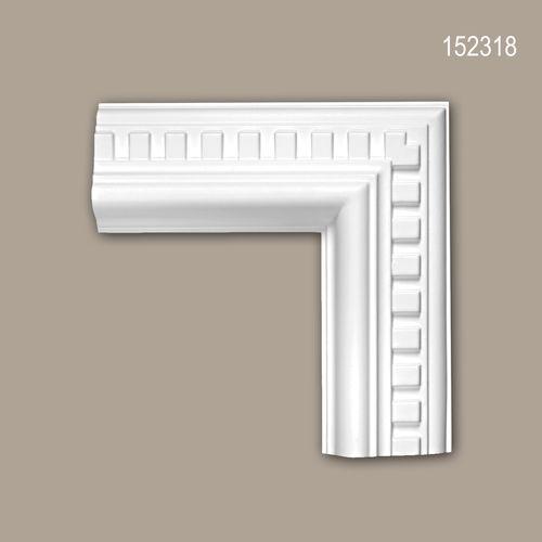Eckelement PROFHOME 152318 Zierelement Neo-Klassizismus-Stil weiß – Bild 1