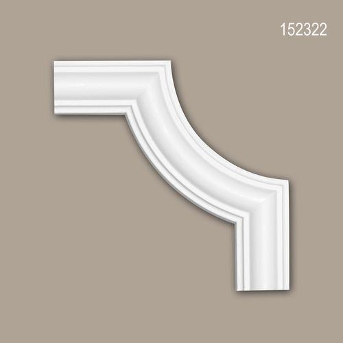 Eckelement PROFHOME 152322 Zierelement Neo-Klassizismus-Stil weiß – Bild 1