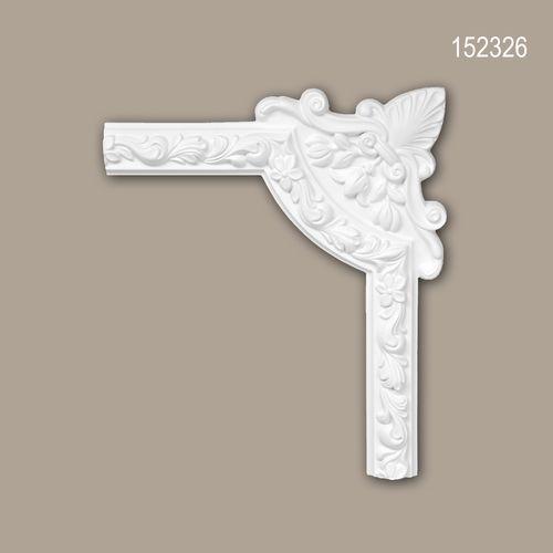 Eckelement PROFHOME 152326 Zierelement Rokoko Barock Stil weiß – Bild 1