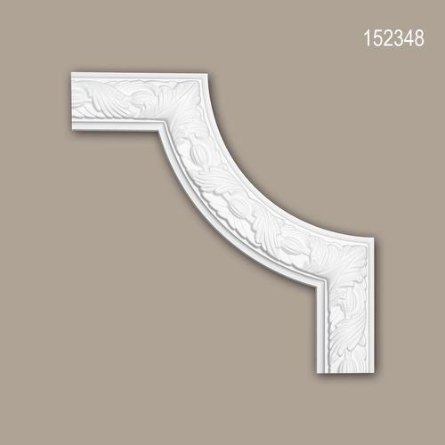 Eckelement PROFHOME 152348 Zierelement Zeitloses Klassisches Design weiß – Bild 1