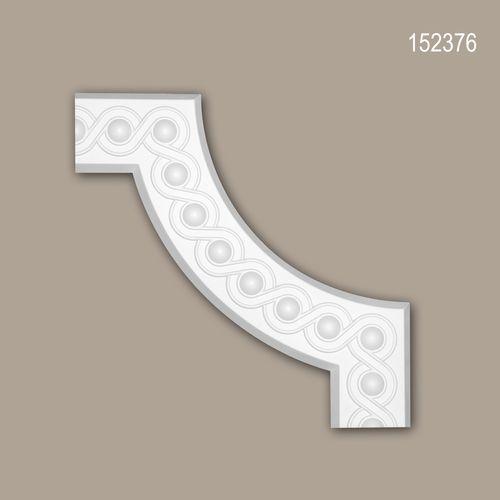 Eckelement PROFHOME 152376 Zierelement Neo-Klassizismus-Stil weiß – Bild 1
