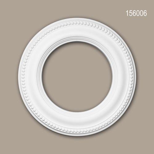 Rosette PROFHOME 156006 Deckenelement Zierelement Neo-Klassizismus-Stil weiß – Bild 1