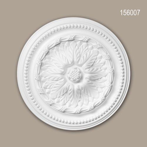Rosette PROFHOME 156007 Deckenelement Zierelement Neo-Empire-Stil weiß – Bild 1