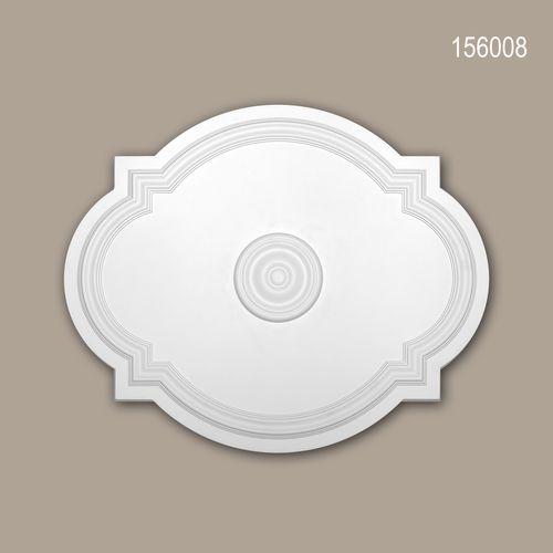 Rosette PROFHOME 156008 Deckenelement Zierelement Jugendstil weiß – Bild 1