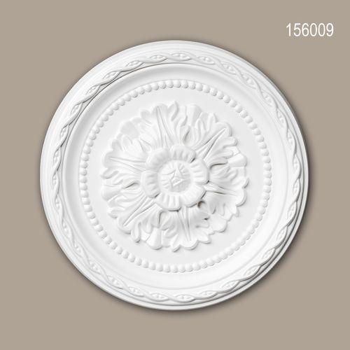 Rosette PROFHOME 156009 Deckenelement Zierelement Neo-Renaissance-Stil weiß – Bild 1