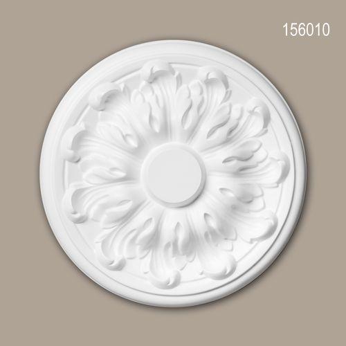 Rosette PROFHOME 156010 Deckenelement Zierelement Neo-Klassizismus-Stil weiß – Bild 1