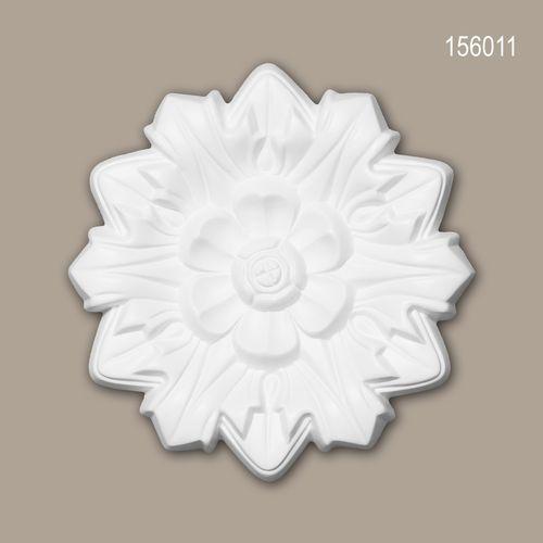 Rosette PROFHOME 156011 Deckenelement Zierelement Neo-Renaissance-Stil weiß – Bild 1
