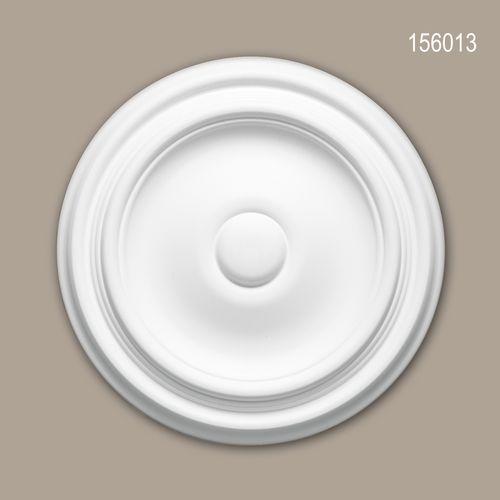Rosette PROFHOME 156013 Zierelement Deckenelement Zeitloses Klassisches Design weiß – Bild 1