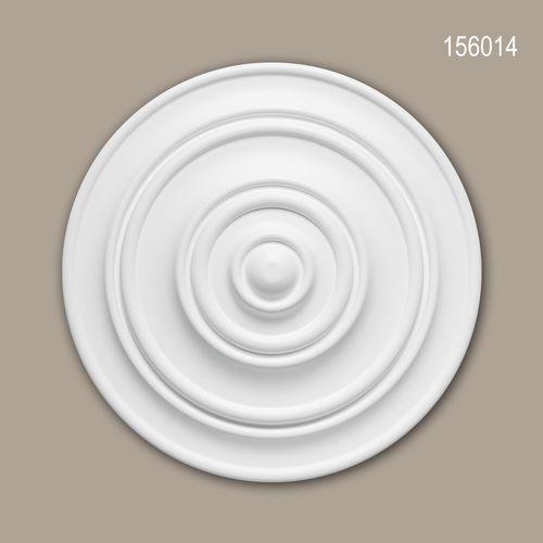 Rosette PROFHOME 156014 Zierelement Deckenelement Zeitloses Klassisches Design weiß – Bild 1